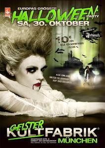 die größte Halloweenparty Deutschlands erwartet Sie in der Kultfabrik München