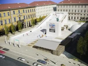 Siemens Snow City am Wittelsbacher Platz in München