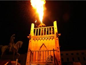 Mittelaltermarkt Feuer