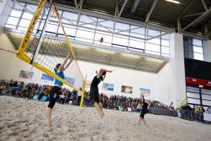 Auf der Messe f.re.e finden auch Beachvolleyballevents statt