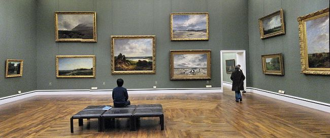 Innenraum der Neue Pinakothek