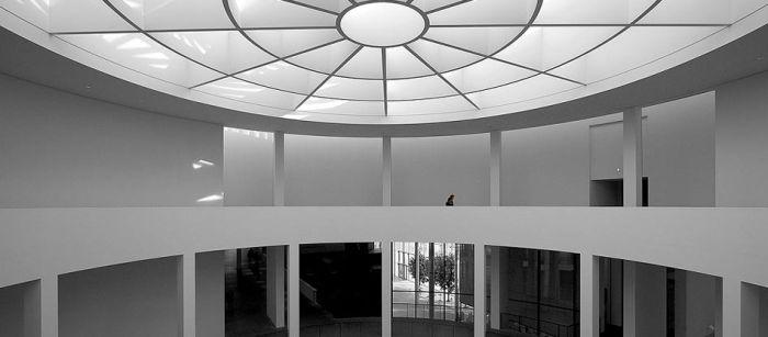 Lichtkuppel in der Pinakothek der Moderne in München
