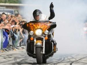 Munich Harley Festival mit Stuntfahrer Rainer Schwarz
