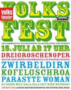 Volksfest im Münchner Volkstheater