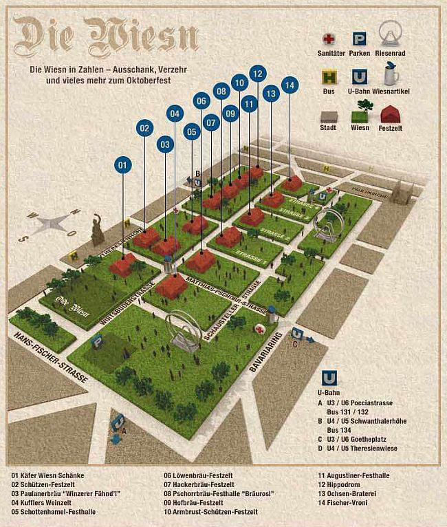 infografik Festzelte Oktoberfest