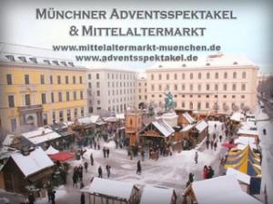 Der mittelalterliche Weihnachtsmarkt in München