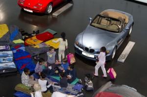 """Aktion """"Nachts im Museum"""" für Kinder in der BMW Welt"""