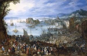 "Jan Brueghel d. Ä. ""Großer Fischmarkt"", 1603"