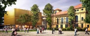 Der Entwurf zum neu gestalteten Lenbachhaus
